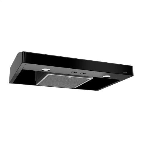 Tenaya 30-inch 250 CFM Black Under-Cabinet Range Hood with light