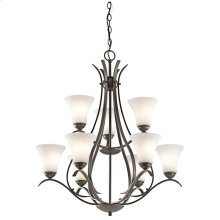 Keiran Collection Keiran 9 Light 2 Tier Chandelier - Olde Bronze
