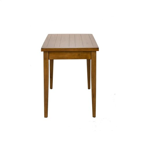 Solid Top Leg Table - Oak