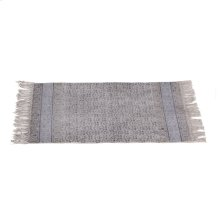 Block Print Grey & Indigo Henna 2'x3' Rug (Each One Will Vary).