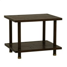 Light Brown Bamboo End Table
