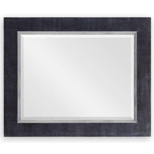 "Charcoal & Silver ""Homespun"" Mirror"