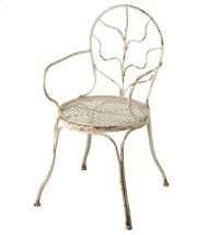 Distressed Ivory Arm Chair Product Image