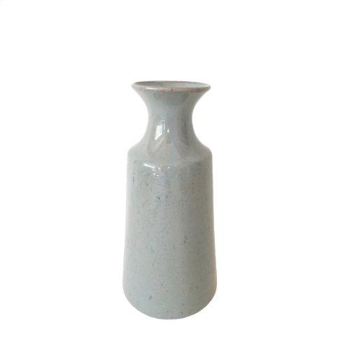 """Ceramic Vase Gray, 11"""""""