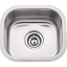 "304 Stainless Steel (18 Gauge) Undermount Bar Sink. Overall Measurements: 14-1/2"" x 13"" x 7"""