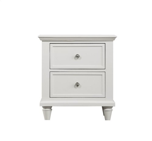 Emerald Home Home Decor 2 Drawer Night Stand-white B381-04wht