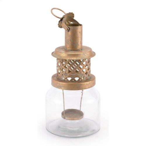Steam Lantern Sm Antique Gold
