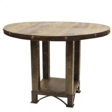 "42"" Round Table Urban Rustic Round Dining Table"