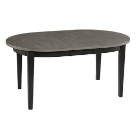 Dining Table - Smoke/Black Finish
