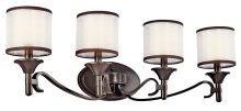 Lacey 4 Light Vanity Light Misson Bronze