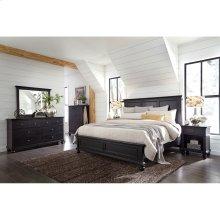 King Panel Bed Complete Oxford Black