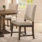 Hawthorne - Upholstered Side Chair - Barnwood Finish Product Image