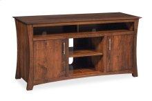 "Loft TV Stand with Soundbar Shelf, Loft TV Stand with Soundbar Shelf, 56""w"