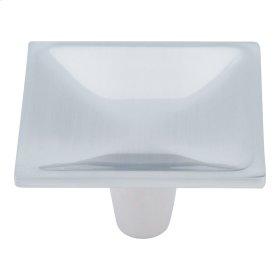 Dap Square Knob 2 Inch - Brushed Nickel
