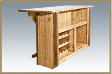 Homestead Deluxe Bar with Foot Rail - Stained & Lacquered
