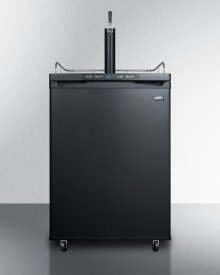 Freestanding Residential Beer Dispenser, Auto Defrost With Digital Thermostat and Black Exterior Finish