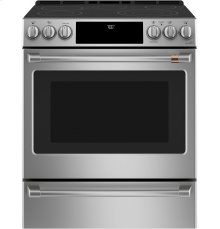 "Café 30"" Slide-In Front Control Radiant and Convection Range with Warming Drawer"