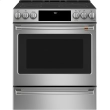 """Café 30"""" Slide-In Front Control Radiant and Convection Range"""