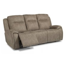Solo Fabric Power Reclining Sofa with Power Headrests