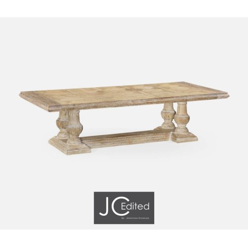 """110"""" Limed Acacia Dining Table"""