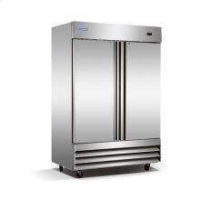2 Solid Door Stainless Steel Reach-In Freezer
