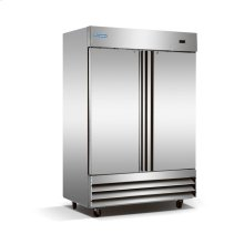 2 Solid Door Stainless Steel Reach-In Freezer