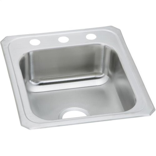 "Elkay Celebrity Stainless Steel 17"" x 21-1/4"" x 6-7/8"", Single Bowl Drop-in Sink"
