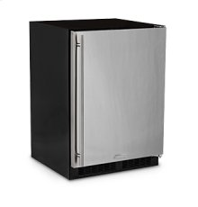 "24"" Refrigerator Freezer with Drawer Storage  Marvel Refrigeration - Solid Stainless Steel Door - Right Hinge"