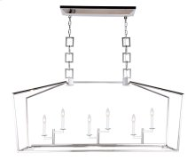 Denmark Collection 6-Light Polished Nickel Finish Chandelier