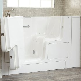 Gelcoat Premium Series 32x52 Walk-in Tub with Air Spa and Outward Opening Door, Left Drain  American Standard - White