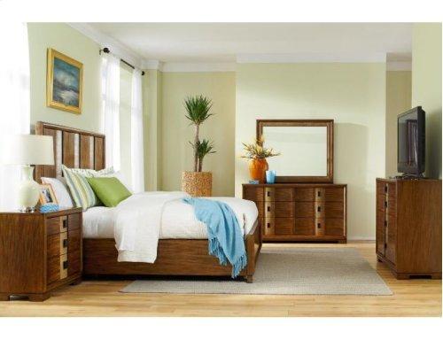 Raffia King Panel Bed Complete