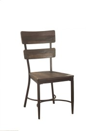 Casselberry Desk Chair - Distressed Walnut With Brown Metal Product Image
