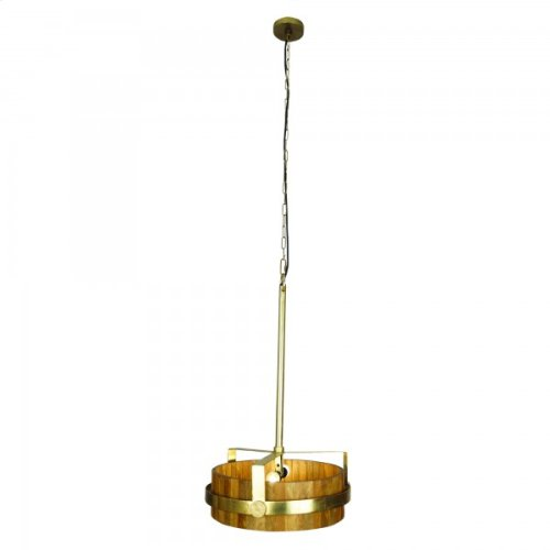 Two Light Pendant in Natural Brass Finish in Mediu