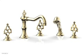 MAISON Deck Tub Set with Hand Shower 164-48 - Polished Brass Uncoated