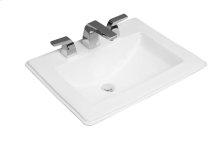 Drop-in washbasin Angular - White Alpin