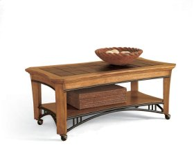 Breckenridge Rectangular Cocktail Table (with casters)