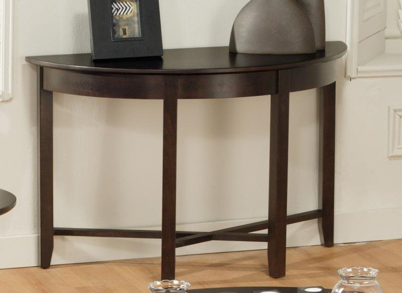 Demilune Half Round Sofa Table Hidden