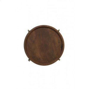 Side table 45x52 cm SALITRE wood-bronze
