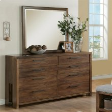 Terra Vista - Eight Drawer Dresser - Casual Walnut Finish