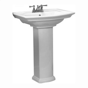 Washington 650 Pedestal Lavatory - White Product Image