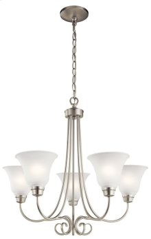 Bixler 5 Light Chandelier Brushed Nickel