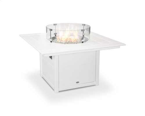 """White Square 42"""" Fire Pit Table"""