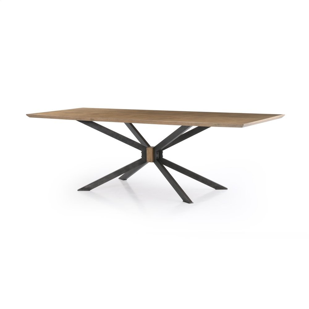 "Bright Brass Clad Finish 94"" Size Spider Dining Table"