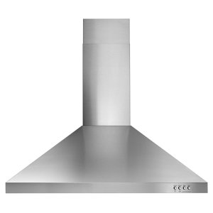 "Whirlpool30"" Contemporary Stainless Steel Wall Mount Range Hood"