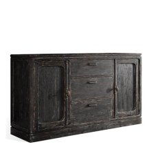 Bellagio Server Weathered Worn Black finish