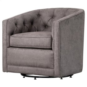 Walsh Fabric Swivel Chair, Denim Dove