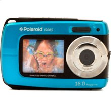 Polaroid 16-Megapixel Waterproof Dual Screen Digital Camera iS085, Blue