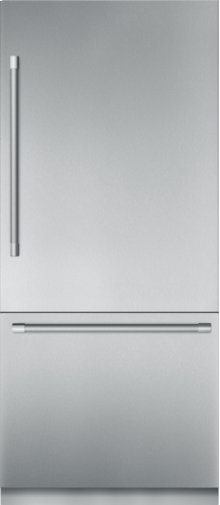 36 inch Stainless Steel Built in 2 Door Bottom Freezer, Pre-Assembled, Professional Handle T36BB920SS