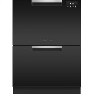 Double DishDrawer Dishwasher, 14 Place Settings - BLACK