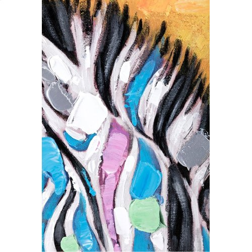 Colorful Zebra Wall Art - Ast 2